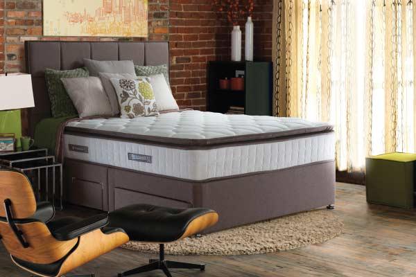 Sealy messina kingsize 4 drawer divan bed vincent davies for 4 drawer divan bed