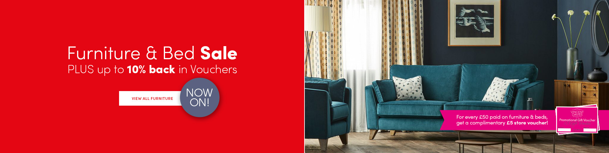 Furniture & Bed Sale with Voucher Promo